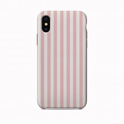 Vertical Pink Stripes iPhone X/XS/XS Max Back Cover