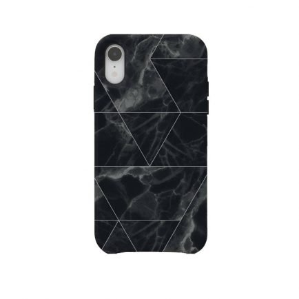 Black Marble iPhone XR Back Cover