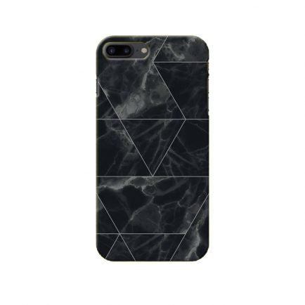 Black Marble iPhone 8 Plus Back Cover