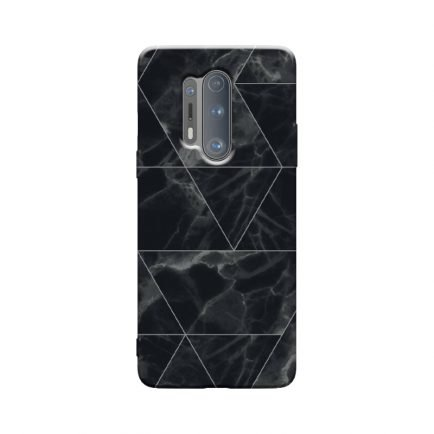 Black Marble OnePlus 8 Pro Back Cover