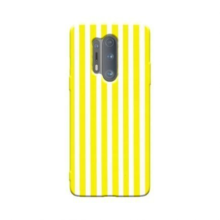 Vertical Yellow Stripes OnePlus 8 Pro Back Cover