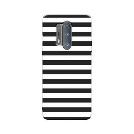 Horizontal Black Stripes OnePlus 8 Pro Back Cover