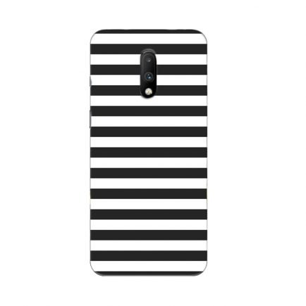 Horizontal Black Stripes OnePlus 7 Back Cover