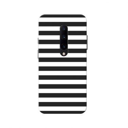 Horizontal Black Stripes OnePlus 7 Pro Back Cover