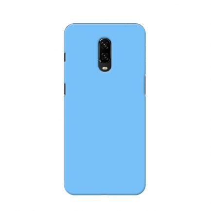 Blue Solid OnePlus 6T Back Cover