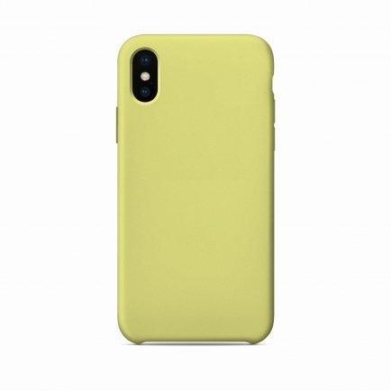 Yellow Solid iPhone X/XS/XS Max Back Cover