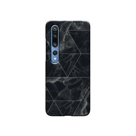 Black Marble MI 10 Back Cover