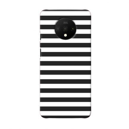 Horizontal Black Stripes OnePlus 7T Back Cover