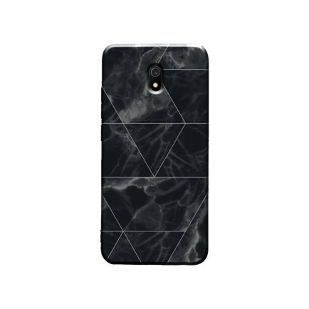 Black Marble Redmi 8A Back Cover