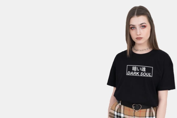 Girl wearing black tshirt .. rareout best and amazing collection