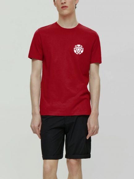 Red tshirt having avenger tshirt